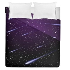 Starry Night Sky Meteor Stock Vectors Clipart Illustrations Duvet Cover Double Side (queen Size) by Mariart