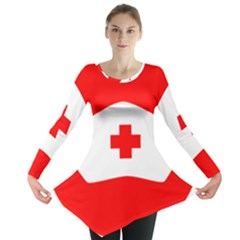 Tabla Laboral Sign Red White Long Sleeve Tunic  by Mariart