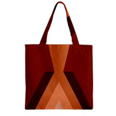 Volcano Lava Gender Magma Flags Line Brown Zipper Grocery Tote Bag by Mariart