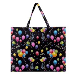 Balloons   Zipper Large Tote Bag by Valentinaart