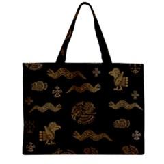 Aztecs Pattern Zipper Mini Tote Bag by Valentinaart