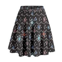 Snow Pattern 2 170505 High Waist Skirt by wilaiwanschultz