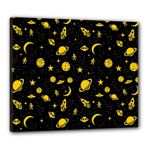 Space Pattern Canvas 24  X 20  by ValentinaDesign