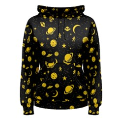 Space Pattern Women s Pullover Hoodie by ValentinaDesign