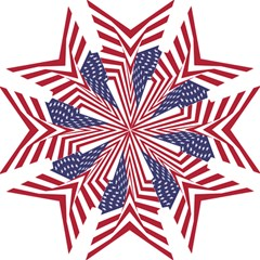 A Star With An American Flag Pattern Hook Handle Umbrellas (Large)