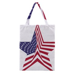 A Star With An American Flag Pattern Classic Tote Bag by Nexatart