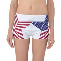A Star With An American Flag Pattern Reversible Bikini Bottoms