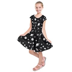 Space Pattern Kids  Short Sleeve Dress by ValentinaDesign