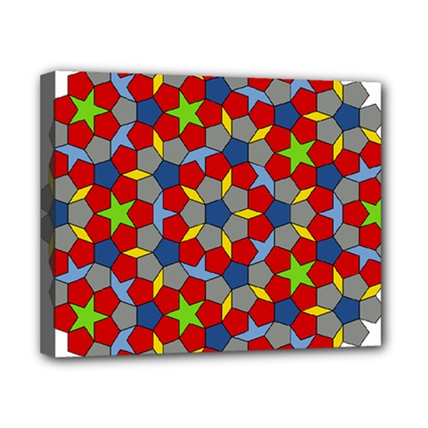 Penrose Tiling Canvas 10  X 8  by Nexatart