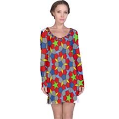Penrose Tiling Long Sleeve Nightdress