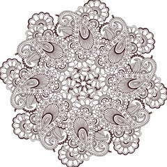 Henna Line Art Clipart Straight Umbrellas by Nexatart