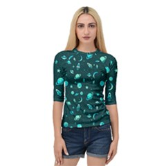 Space Pattern Quarter Sleeve Tee by ValentinaDesign