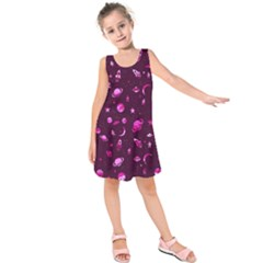 Space Pattern Kids  Sleeveless Dress by ValentinaDesign