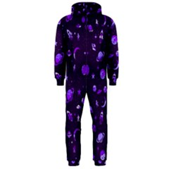Space Pattern Hooded Jumpsuit (men)  by ValentinaDesign