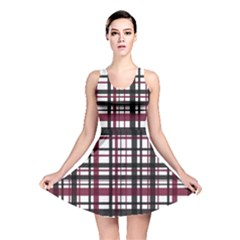 Plaid Pattern Reversible Skater Dress by ValentinaDesign
