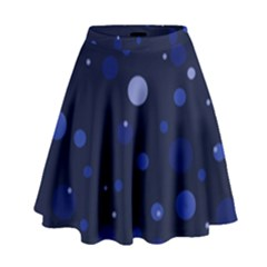 Decorative Dots Pattern High Waist Skirt by ValentinaDesign