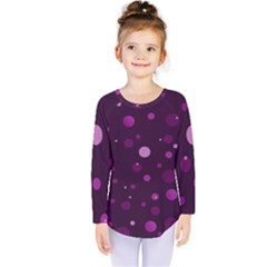 Decorative Dots Pattern Kids  Long Sleeve Tee by ValentinaDesign
