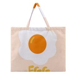 Egg Eating Chicken Omelette Food Zipper Large Tote Bag by Nexatart