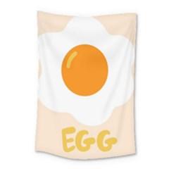 Egg Eating Chicken Omelette Food Small Tapestry by Nexatart