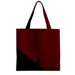 Walking Stairs Steps Person Step Zipper Grocery Tote Bag by Nexatart