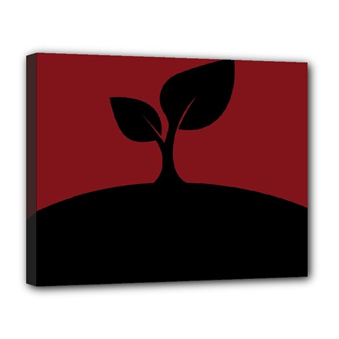 Plant Last Plant Red Nature Last Canvas 14  X 11  by Nexatart