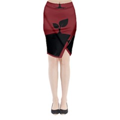 Plant Last Plant Red Nature Last Midi Wrap Pencil Skirt by Nexatart