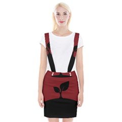 Plant Last Plant Red Nature Last Braces Suspender Skirt by Nexatart