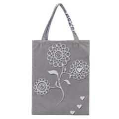 Flower Heart Plant Symbol Love Classic Tote Bag by Nexatart