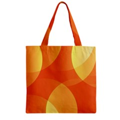 Abstract Orange Yellow Red Color Zipper Grocery Tote Bag by Nexatart
