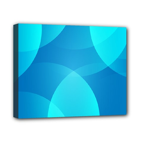 Abstract Blue Wallpaper Wave Canvas 10  X 8  by Nexatart