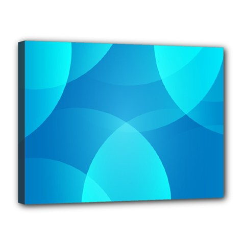Abstract Blue Wallpaper Wave Canvas 16  X 12  by Nexatart