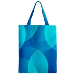 Abstract Blue Wallpaper Wave Zipper Classic Tote Bag by Nexatart