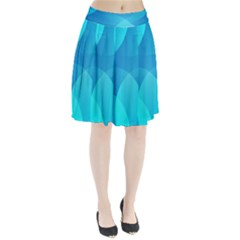 Abstract Blue Wallpaper Wave Pleated Skirt by Nexatart