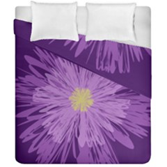 Purple Flower Floral Purple Flowers Duvet Cover Double Side (california King Size) by Nexatart