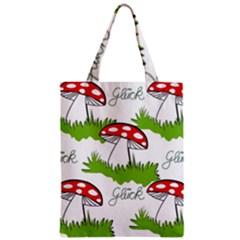 Mushroom Luck Fly Agaric Lucky Guy Zipper Classic Tote Bag by Nexatart