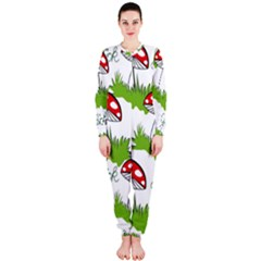 Mushroom Luck Fly Agaric Lucky Guy Onepiece Jumpsuit (ladies)  by Nexatart