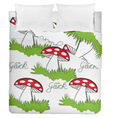 Mushroom Luck Fly Agaric Lucky Guy Duvet Cover Double Side (queen Size) by Nexatart