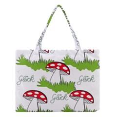 Mushroom Luck Fly Agaric Lucky Guy Medium Tote Bag by Nexatart