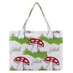 Mushroom Luck Fly Agaric Lucky Guy Medium Zipper Tote Bag by Nexatart