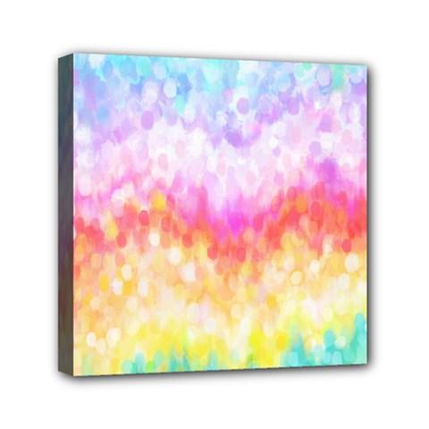 Rainbow Pontilism Background Mini Canvas 6  X 6  by Nexatart