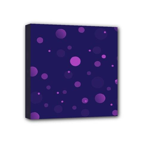 Decorative Dots Pattern Mini Canvas 4  X 4  by ValentinaDesign