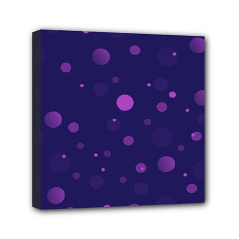 Decorative Dots Pattern Mini Canvas 6  X 6  by ValentinaDesign