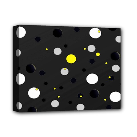 Decorative Dots Pattern Deluxe Canvas 14  X 11  by ValentinaDesign