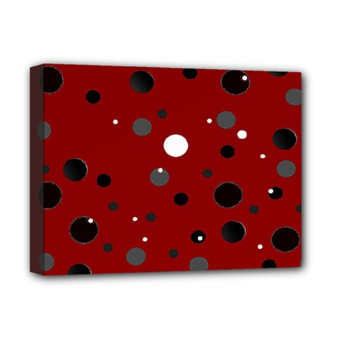 Decorative Dots Pattern Deluxe Canvas 16  X 12   by ValentinaDesign