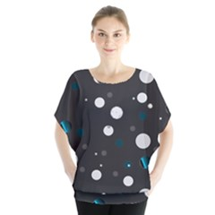 Decorative Dots Pattern Blouse by ValentinaDesign