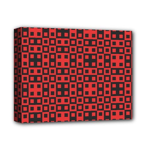 Abstract Background Red Black Deluxe Canvas 14  X 11  by Nexatart