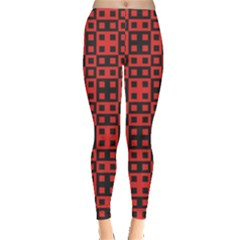 Abstract Background Red Black Leggings  by Nexatart