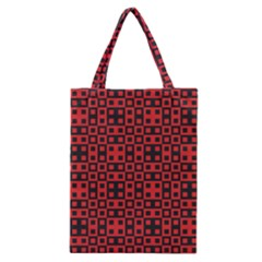 Abstract Background Red Black Classic Tote Bag by Nexatart