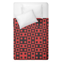 Abstract Background Red Black Duvet Cover Double Side (single Size) by Nexatart