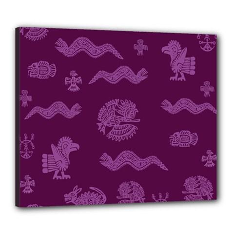 Aztecs Pattern Canvas 24  X 20  by ValentinaDesign